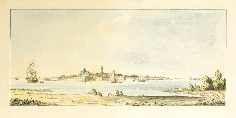 A view of the Town, J. F. W. Des Barres, Charleston, South Carolina, 1777.