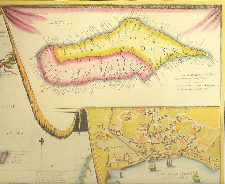 "<span>Section of map of the Canary Islands and Madeira</span><span>,</span><span><span>&nbsp;by Vincenzo Coronelli, 1692, courtesy of Internet Culturale: Cataloghi e Collezioni Digitali Delle Biblioteche Italiane.<br /></span></span><span><a href=""http://www.internetculturale.it/opencms/opencms/it/index.html""><br /></a></span>"