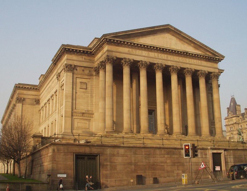 St. George's Hall, photograph by Dave Root, Liverpool, England, 2007.