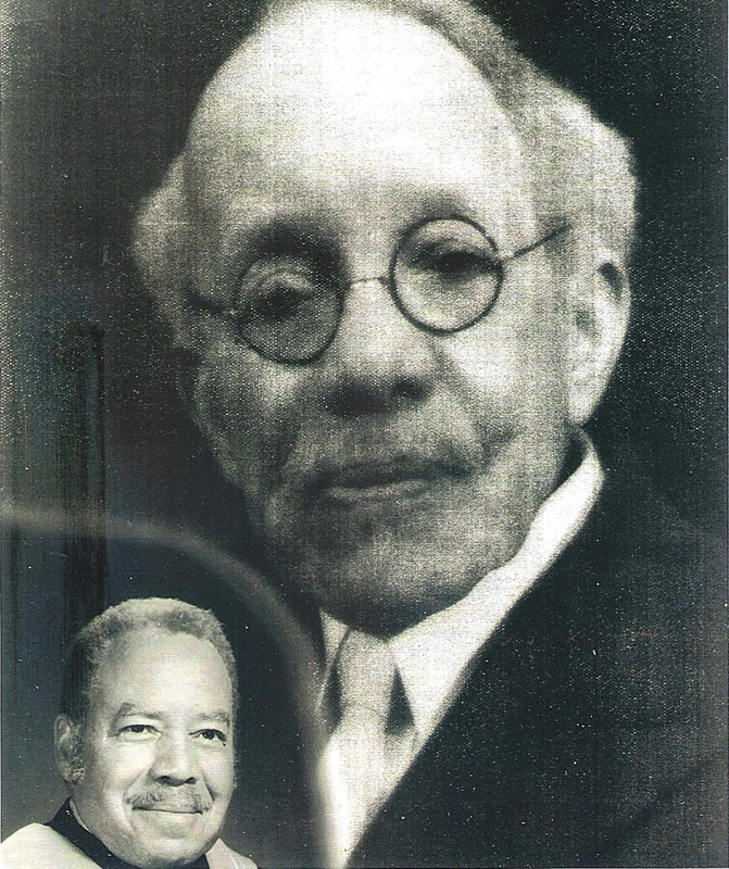 Samuel Williams pictured with grandson, Walter G. McClain (lower left), circa 1940 and circa 1980 respectively, courtesy of the McClain family.