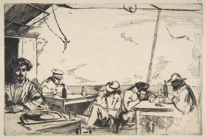 Soupe à trois sous, sketch by James McNeill Whistler, 1859, courtesy of the Metropolitan Museum of Art.