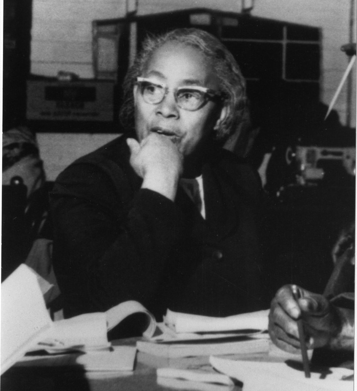Septima Poinsette Clark, ca. 1970, courtesy of Avery Photograph Collection, Avery Research Center.