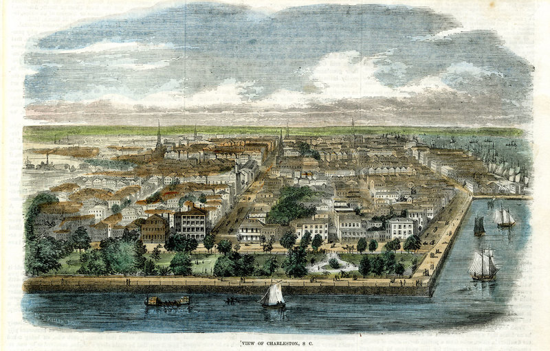 """""""View of Charleston, S.C.,"""" <em>Illustrated News,</em> 1853, The Charleston Museum Illustrated Newspapers Collection, courtesy of the Charleston Museum Archives."""