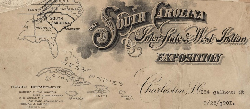 Letterhead for the Negro Department of the South Carolina Inter-State and West Indian Exposition, Holloway Family Scrapbook, Charleston, South Carolina, September 23, 1901, courtesy of the Avery Research Center for African American History and Culture.