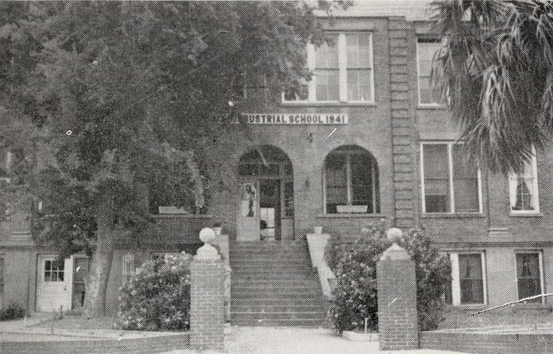 Burke High School building before merger with Avery High School, ca. 1940s, courtesy of the Avery Research Center.