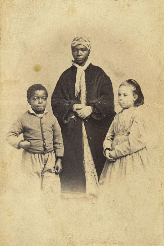 """""""White and black slaves from New Orleans,"""" New York, c. 1863, photograph by M.H. Kimball, courtesy of Library of Congress Prints and Photographs Division."""
