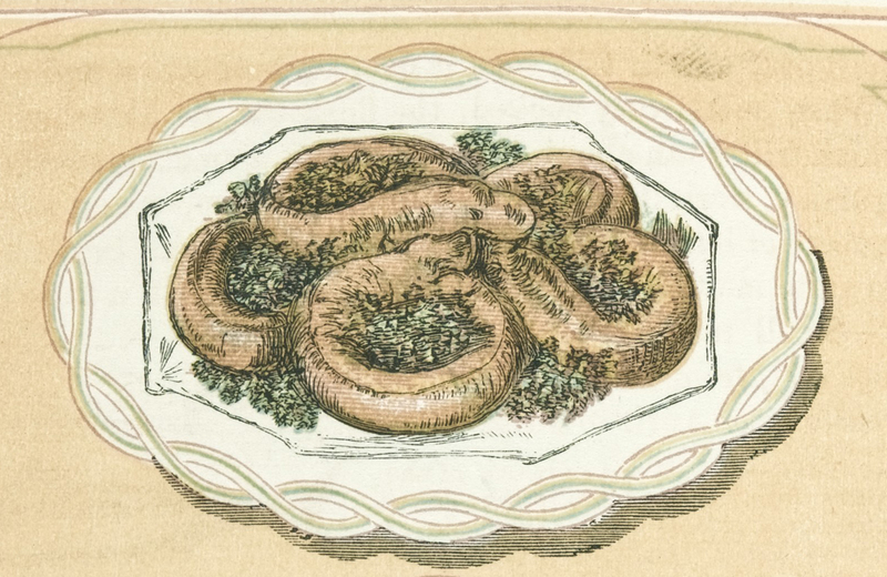 Fried whiting, detail from <em>The Book of Household Management</em>, edited by Isabella Beeton, 1861, courtesy of the Wellcome Library.