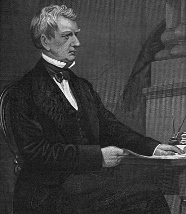 "Portrait of William Henry Seward, published in ""Portrait Gallery of Eminent Men and Women in Europe and American"" by Evert A. Duyckinick, 1873, courtesy of the Utopia Portrait Gallery, University of Texas Libraries."