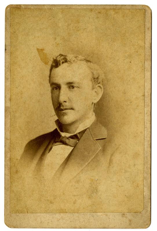 Gustave Moritz Pollitzer, age 25 years old, Charleston South Carolina, ca.1880, Anita Pollitzer Family Papers, South Carolina Historical Society.