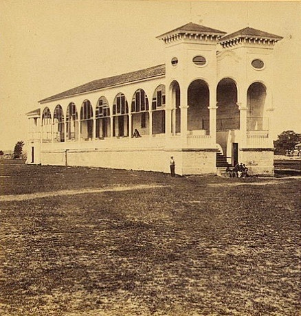 Club house at the Charleston race course, photograph by George N. Barnard, Charleston, South Carolina, 1865, courtesy of Library of Congress.