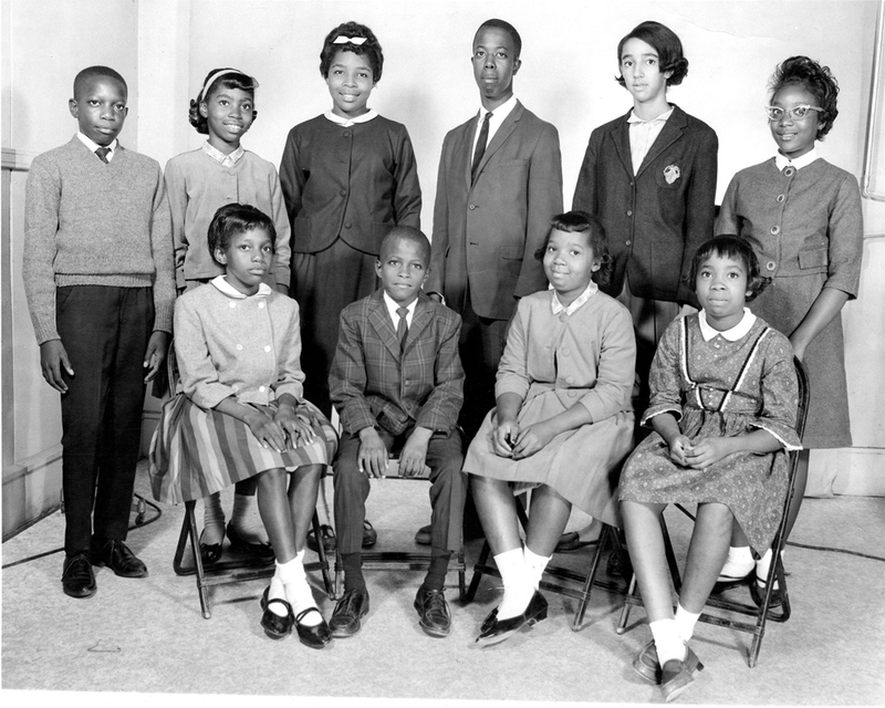 First Children of Integration in Charleston School District #20, 1963, Charleston, South Carolina, Isaiah DeQuincey Newman Papers, courtesy of the South Carolina Political Collections, University of South Carolina.