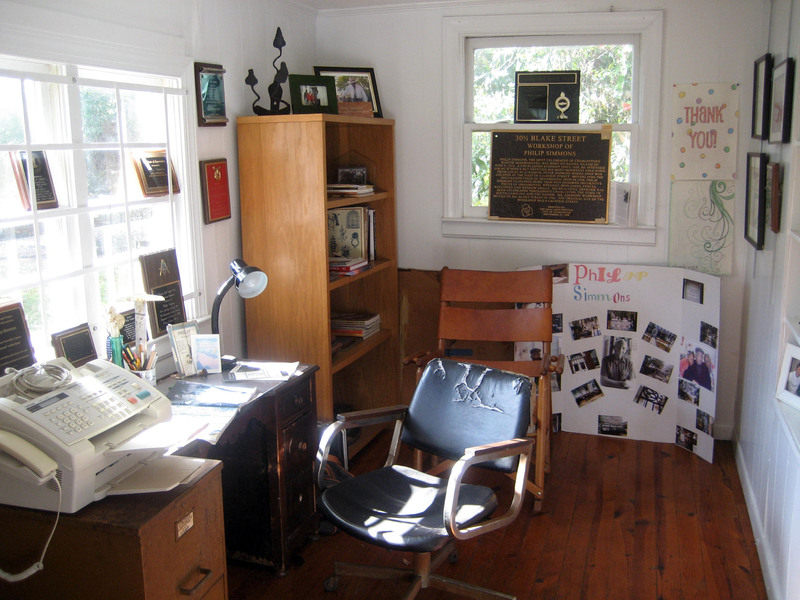 Philip Simmons's office at 30 1/2 Blake Street, image by Bradley Blankemeyer, Charleston, South Carolina, November 2013.