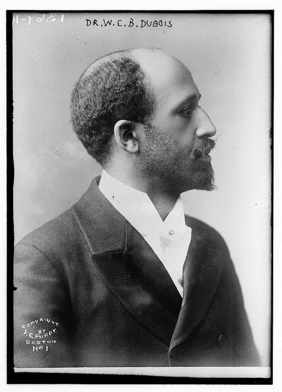 Dr. W.E.B. Dubois, 1904, published by Bain News Service, courtesy of Library of Congress Prints and Photographs Division. Dubois visited Charleston, and specifically Avery Normal Institute, on separate occassions in 1917 and 1921.