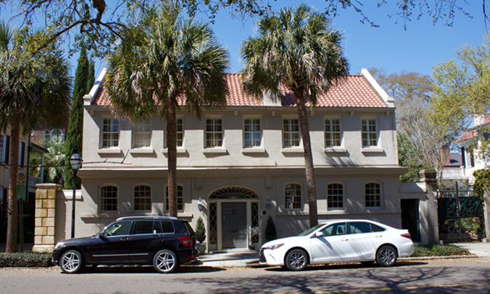 61 Meeting Street, the home of Federal Judge J. Waties Waring and Elizabeth Avery Waring, photograph by Monica Bowman, Charleston, South Carolina, March 15, 2016.