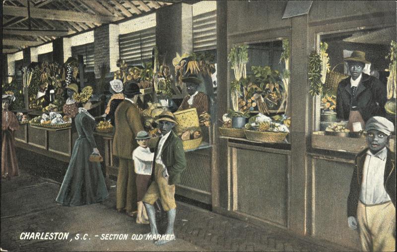 """Section Old Market,"" postcard, Charleston, South Carolina, c. 1800s, courtesy of the South Carolina Historical Society."