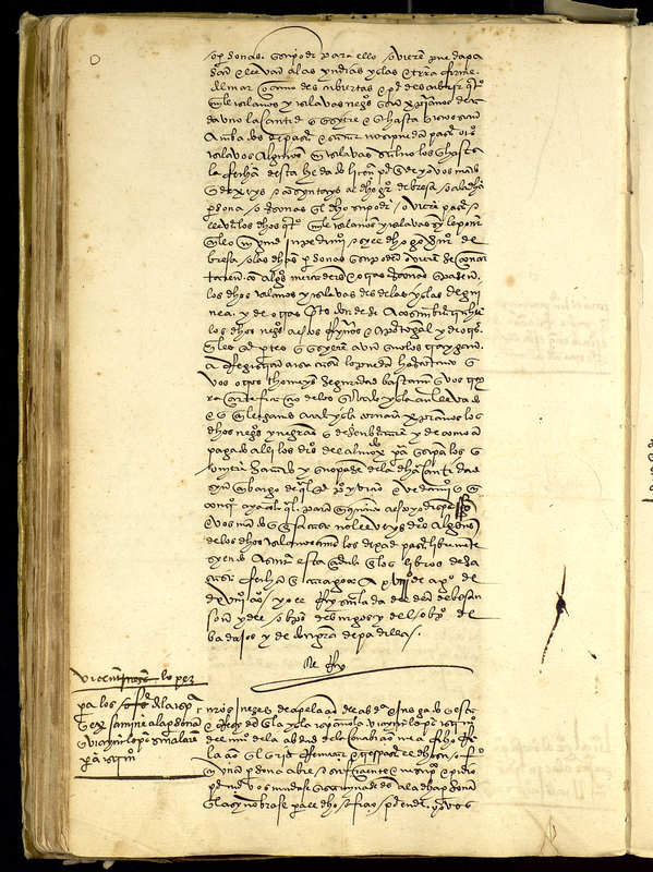 Charter granted by Emperor Charles V to Lorenzo de Gorrevod for permission to transport slaves, Spain, 18 August 1518, courtesy of the Archivo General de Indias, Sevilla, Spain. The charter opens the trans-Atlantic slave trade by allowing the transportation of four thousand slaves directly from Africa to the Spanish American colonies.