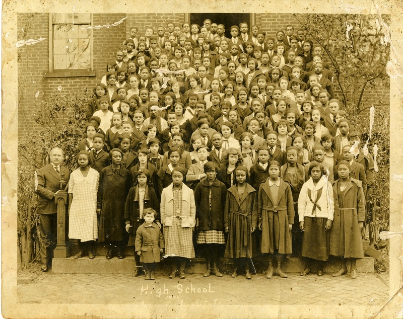 Avery's high school student body, Charleston, South Carolina, 1924, courtesy of the Avery Research Center.