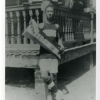 Student athlete, Charleston, South Carolina, 1918, courtesy of the Avery Research Center.