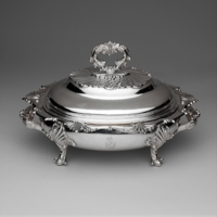 Entree Dish, created by Taylor and Lawrie (active 1837–62): ca. 1839, Philadelphia, Pennsylvania, courtesy of the Metropolitan Museum of Art.