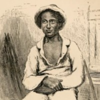 Sketch of Solomon Northup taken from <em>Twelve Years a Slave</em>, 1859.
