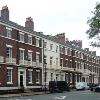 Abercromby Square, photograph by Stephen Richards, Liverpool, England, 2011.