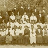 Graduating class of 1915, Charleston, South Carolina, courtesy of the Avery Research Center.