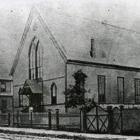 Plymouth Congregational Church and Parsonage, ca. 1895, courtesy of the Avery Research Center. In 1867, over one hundred African Americans, mostly former members of the Circular Church, founded the Plymouth Church, the oldest Black Congregational Church in South Carolina. Avery Principal Francis Cardozo served as one of the early pastors, and many Averyites and their families became members of the congregation.