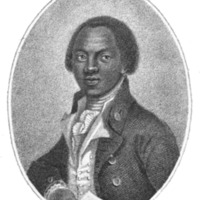 Portrait of Olaudah Equiano taken from <em>The Interesting Narrative of the Life of Olaudah Equiano</em>, 1794, courtesy of Project Gutenberg.