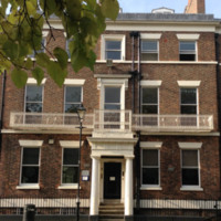 4 Abercromby Square, photograph by Chris Williams, Liverpool, England, 2015. The Littledale family resided at this site from 1827 to 1832.