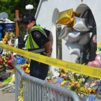 Charleston City police outside Emanuel AME Church, June 25, 2015, Charleston, South Carolina, courtesy of ABC New4 WCIV-TV.
