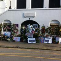 Emanuel AME Church from across Calhoun Street, photograph by Mary Battle, June 29, 2015, Charleston, South Carolina.