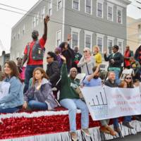 Parade participants attending the Martin Luther King Jr. Parade, photograph by Marcela Raben, Charleston, South Carolina, January 16, 2017.