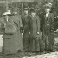Last white teachers at Avery, Charleston, South Carolina, ca. 1914, courtesy of the Avery Research Center. Increasingly strict segregation laws and customs prohibited different races from living together in the same household, which forced Avery to release the last white teachers from its faculty residence in 1915.